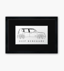 Jeep Renegade BU - Profile Stencil, black Framed Print