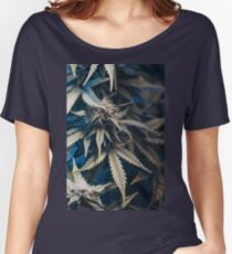 Weed indica sativa cannabis design floral hemp marijuana Women's Relaxed Fit T-Shirt