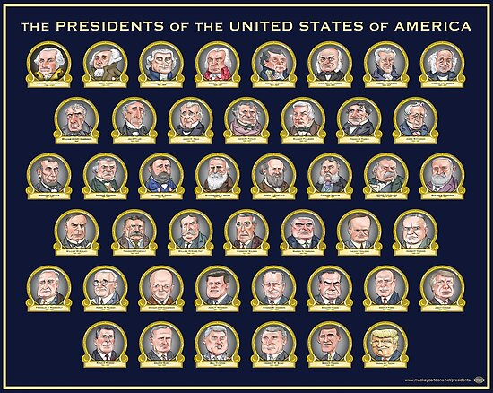 Trump presidential poster posters by mackaycartoons for Pictures of all presidents of the united states in order