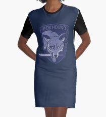 ° METAL GEAR SOLID ° Fox Hound Denim Logo Graphic T-Shirt Dress