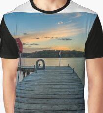 Rossclare Jetty Sunset Graphic T-Shirt