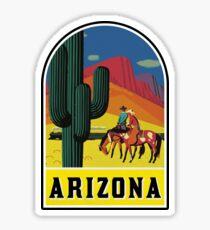 ARIZONA VINTAGE GRAND CANYON TRAVEL PHOENIX COWBOY WILD WEST SAGUARO CACTUS TUCSON TEMPE MESA Sticker