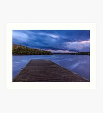 After Sunset At Rossigh Jetty Art Print