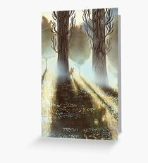 Between the Trees Greeting Card