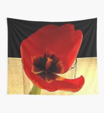 Bloomed Tulip Like Georgia O'Keefe image Wall Tapestry