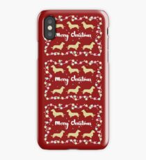 Dachshund Reindeers Merry Christmas! iPhone Case/Skin