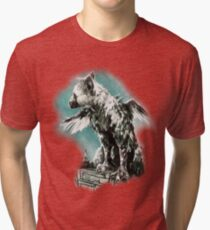 The Last Guardian - Vinyl Art Tri-blend T-Shirt