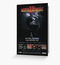 VINTAGE Mortal Kombat II  Greeting Card