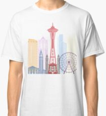 Seattle skyline poster Classic T-Shirt