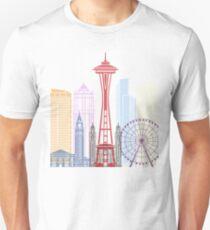 Seattle skyline poster Unisex T-Shirt