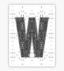 "PLAY OFF ""W"" PATTERN Sticker"