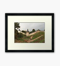 Towers and walls of the old Pskov fortress Framed Print