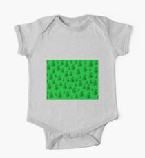 Green on green, flowers, ornament, asymetric floral design One Piece - Short Sleeve