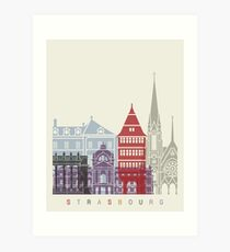 Strasbourg skyline poster Art Print