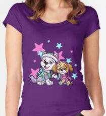 Paw Patrol Girls Women's Fitted Scoop T-Shirt