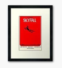 Saul Bass inspired Skyfall poster  Framed Print