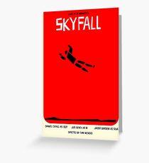 Saul Bass inspired Skyfall poster  Greeting Card