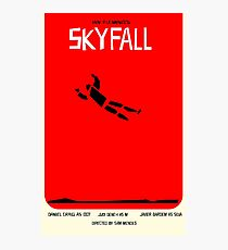 Saul Bass inspired Skyfall poster  Photographic Print