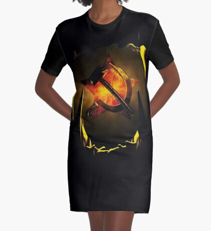 hammer and sickle Graphic T-Shirt Dress