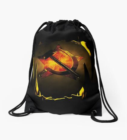 hammer and sickle Drawstring Bag