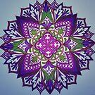 Mandala Colored by Ann by Ann Palmieri