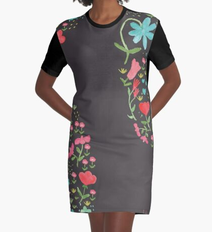 Folk Vibe Graphic T-Shirt Dress