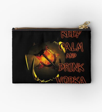 keep calm and drink vodka Studio Pouch