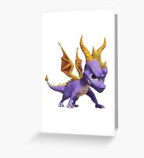 Spyro Voxel Greeting Card