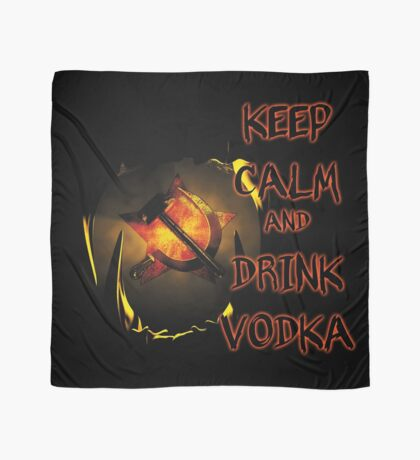 keep calm and drink vodka Scarf