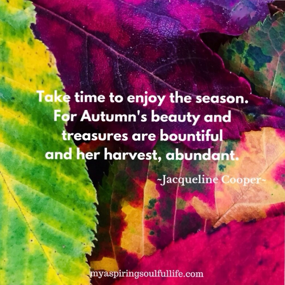 Autumn's Abundance with Quote by Jacqueline Cooper