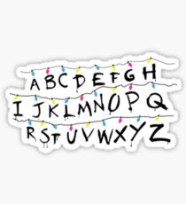 stranger things light alphabet Sticker