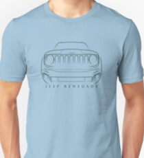 Jeep Renegade BU - Front Stencil, black T-Shirt