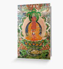 Tibetan Thangka Greeting Card