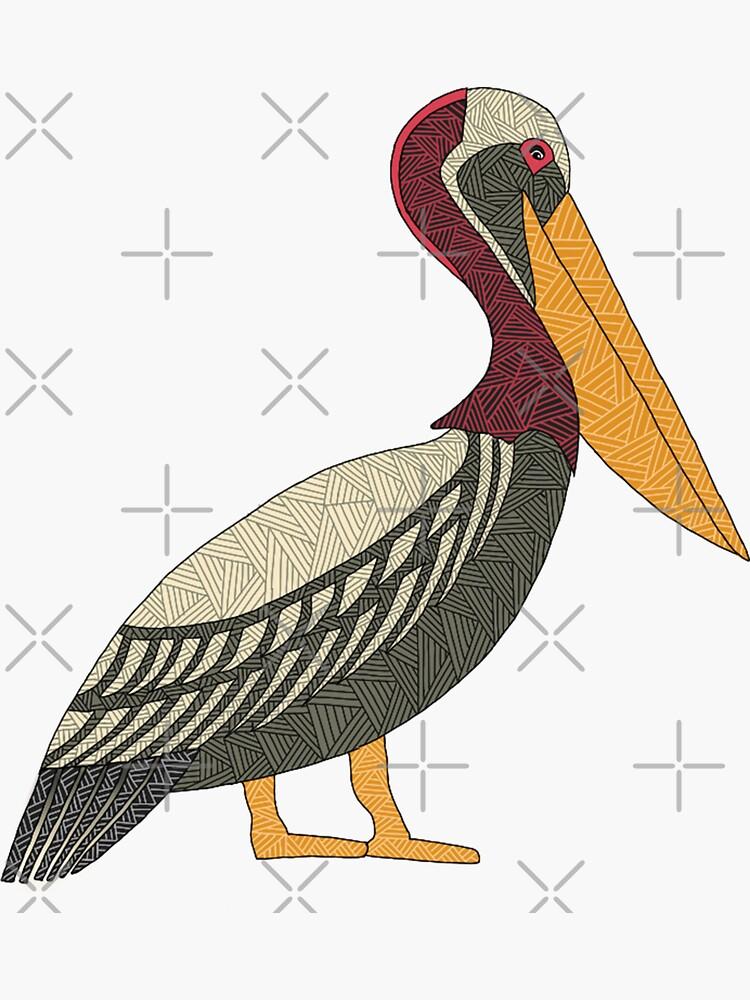 Pelikan auf der Uhr von paviash