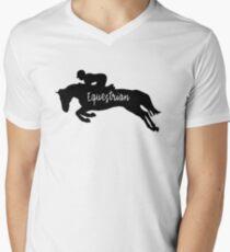 Equestrian Silhouette  V-Neck T-Shirt