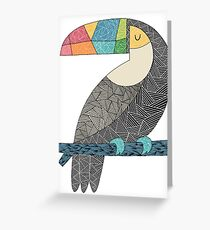 Tucan chilling Greeting Card