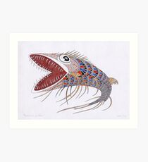 Shark fish  (original sold) Art Print