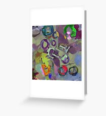 In A Purple Dream Greeting Card