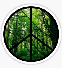 Forest Tree Peace Sign Sticker