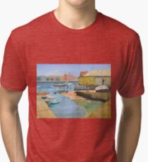 Port Adelaide Sailing Club - McLawrie's Boat Shed - 2004 Tri-blend T-Shirt