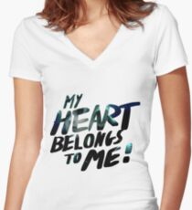 My Hearts Belongs to Me! - Roxas Women's Fitted V-Neck T-Shirt