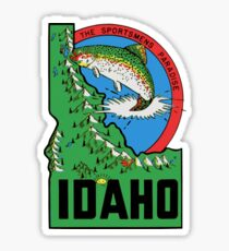 Idaho ID State Vintage Travel Fishing Decal Sticker