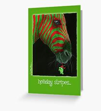 holidays stripes... Greeting Card