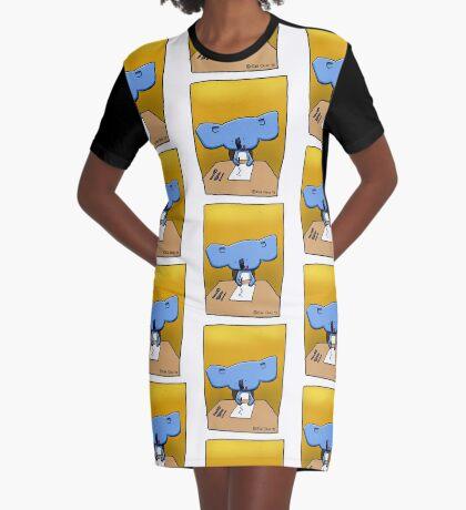 Cute Koala Drawing Illustration Graphic T-Shirt Dress
