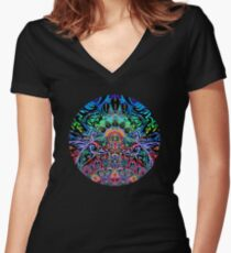 Mandala Energy Women's Fitted V-Neck T-Shirt