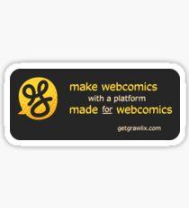 Make webcomics on a webcomics platform Sticker