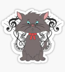 Piano Kitten Sticker