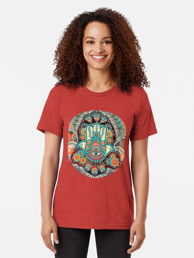 Alternate view of Hamsa Hand Tri-blend T-Shirt