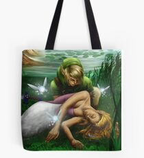 Link and Zelda Tote Bag
