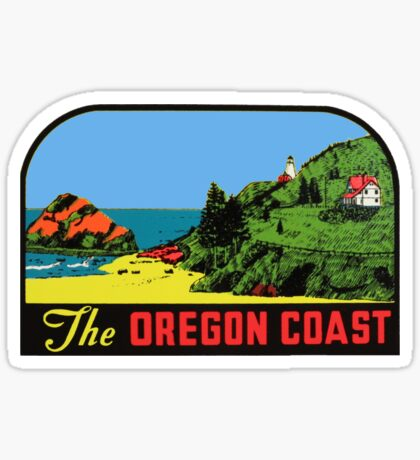 The Oregon Coast Vintage Travel Decal Sticker